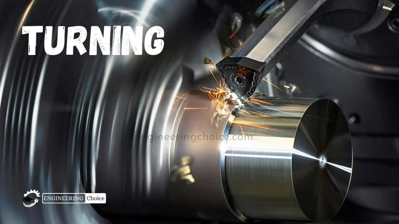 Turning is a form of machining, a material removal process, which is used to create rotational parts by cutting away unwanted material.