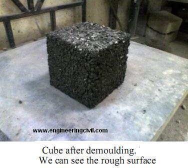 cube after demoulding-rough