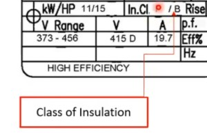 class-of-insulation-on-motor-nameplate-in-hindi