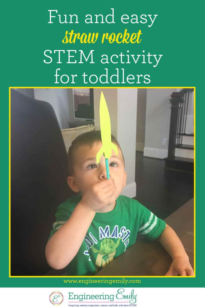 Fun And Easy Straw Rocket Stem Activity For Toddlers Engineering Emily
