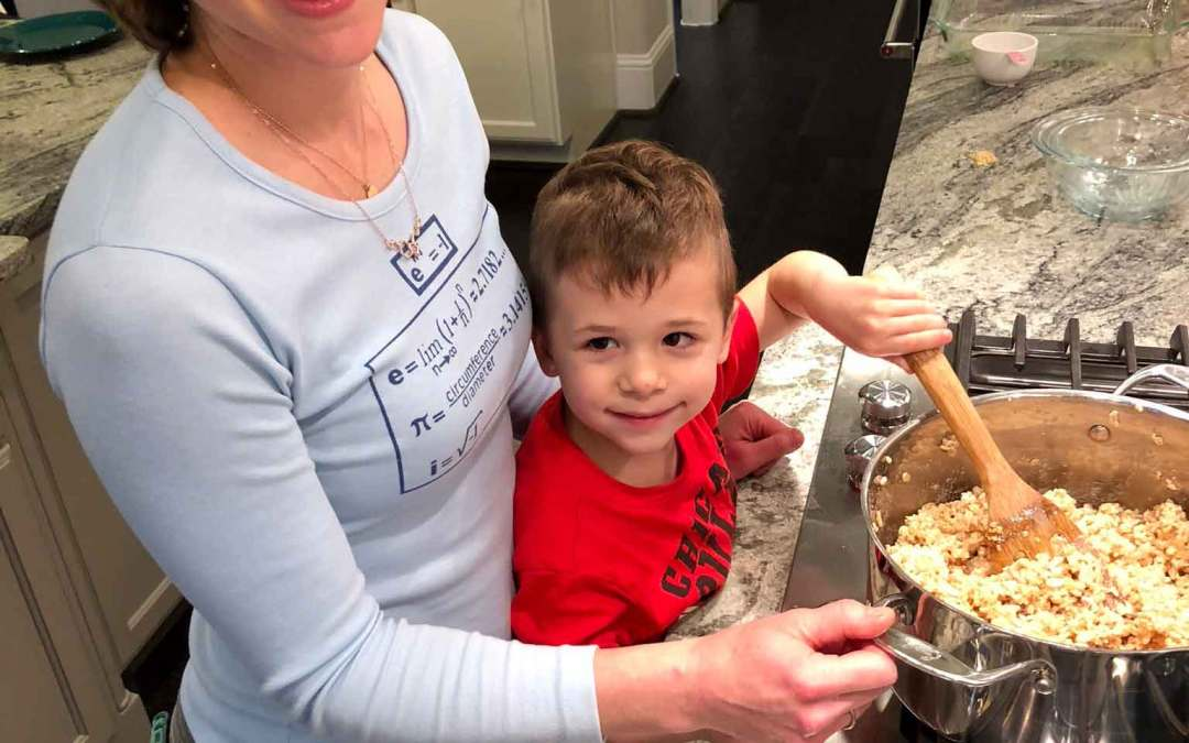 Teach your kids STEM concepts while making Rice Krispies Treats!