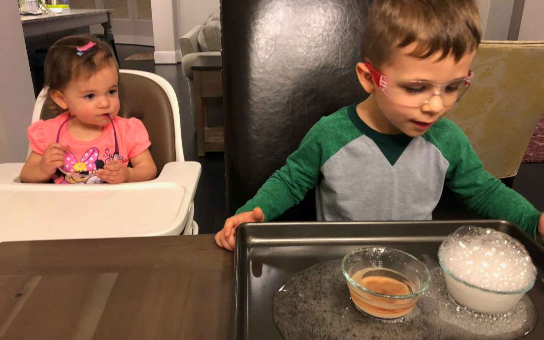3 Valentine's Day themed Baking Soda and Vinegar Experiments for toddlers