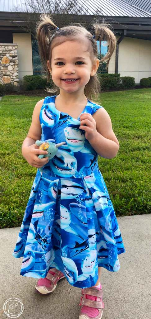 404deb62c The Shark Dress is extremely well made. I love how my daughter can wear  sharks and also be dressy. My daughter loves this dress so much that she  requested ...