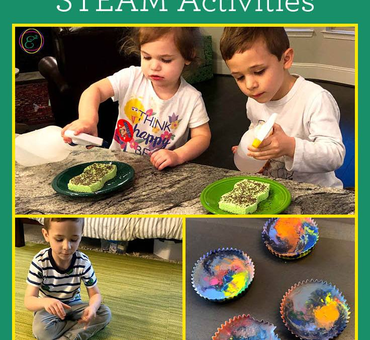 Green, Gold and Rainbow St. Patrick's Day STEAM Activities for Toddlers and Preschoolers