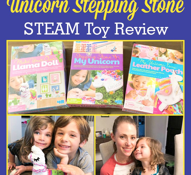4M Llama Doll, Unicorn Pouch, and Unicorn Stepping Stone | Children's STEAM Toy Review