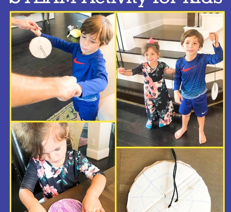 Make a Spinner   STEAM Activity for Kids