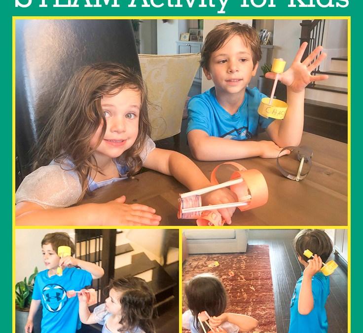 Easy Straw Flier   STEAM Activity for Kids