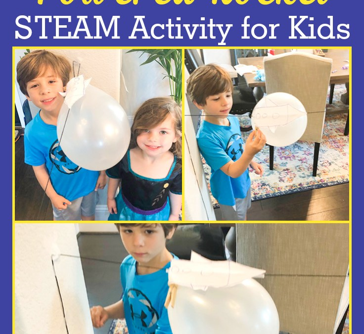 Make a Balloon Powered Rocket | STEAM Activity for Kids