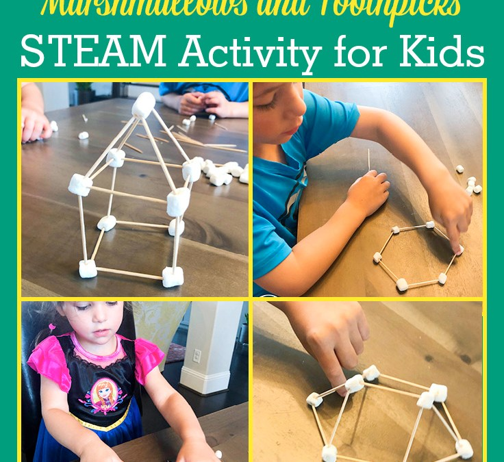 Building Challenge: Make Shapes and Structures using Marshmallows and Toothpicks | STEAM Activity for Kids