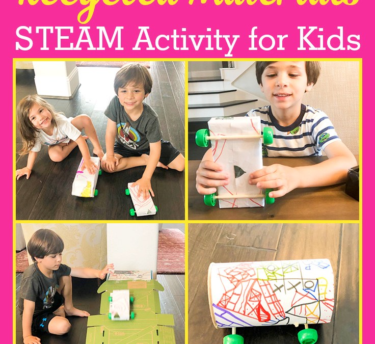 Make a Car using Recycled Materials | STEAM Activity for Kids