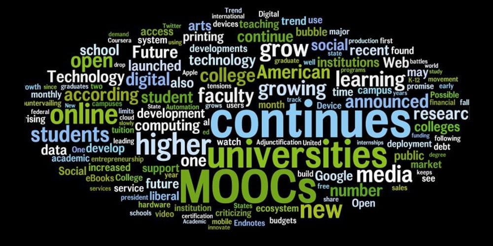 MOOC tag cloud