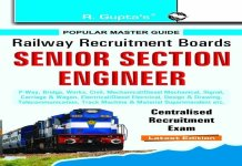 RRB Senior Section Engineer Centralised Recruitment Exam Guide