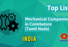 List of Mechanical Companies in Coimbatore (Tamil Nadu)