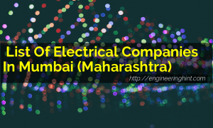 List Of Electrical Companies In Mumbai (Maharashtra)