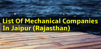 List Of Mechanical Companies In Jaipur (Rajasthan)