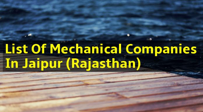 List Of Mechanical Companies In Jaipur (Rajasthan)
