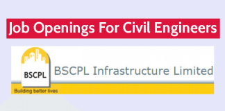 BSCPL Infrastructure Ltd Job Openings For Civil Engineers Apply Now