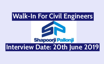 Shapoorji Pallonji Walk-In For Civil Engineers Interview Date 20th June 2019