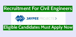 Jaypee Projects Ltd Recruitment For Civil Engineers Eligible Candidates Must Apply Now