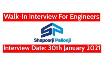 Shapoorji Pallonji Walk-In For Engineers