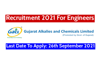 GACL Recruitment 2021 For Engineers Last Date To Apply 26th September 2021