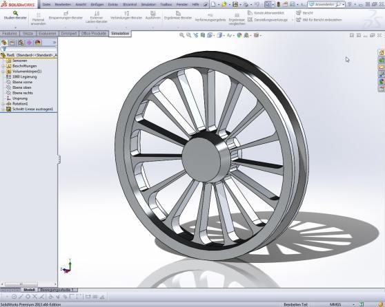 Aus dem CSWA-Test: Dieses Rad entstand zunächst als Scheibenrad, die Löcher für die Speichen sind ein rotiertes Muster.