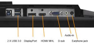 Die Anschlüsse des Monitors: Alles was man wirklich braucht (Bild: Asus).