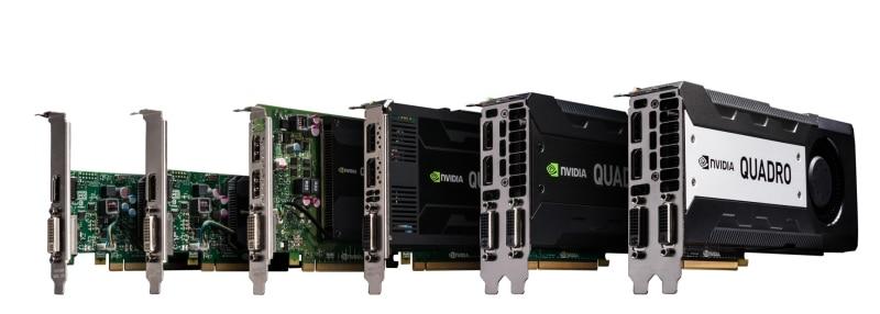 Die Palette der neuen Nvidia-Karten von der K420 bis zur K5200 (Bild: Nvidia)