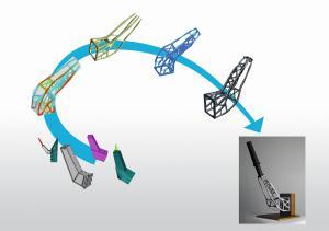 Massive Gewichtsersparnisse bei gleicher Steifigkeit lassen sich mit Topologieoptimierung und 3D-Druck erreichen (Bild: Altair).