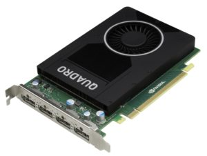 Die neue Quadro M2000 ist so kompakt, dass sie auch in kleine Gehäuse passt (Bild: PNY).