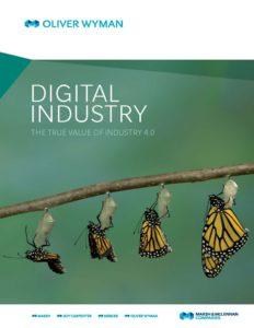 Eine hochinteressante Studie zu Industrie 4.0 bzw. der Digitalen Industrie (Bild: Oliver Wyman).