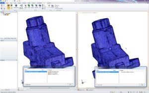Ein anderes Spezialgebiet von SpaceClaim: Die Reparatur von Gittermodellen, beispielsweise im STL-Format.