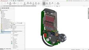 Der Batteriehalter aus Autodesk Inventor lässt sich in SolidWorks 2017 per Knopfdruck aktualisieren (Alle Bilder: SolidWorks).