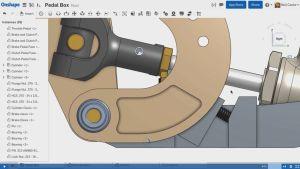 Beim Aktualisieren erkennt das System die andere Stellung des Pedals...