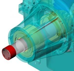 KISSsys analysiert komplette Getriebesysteme, unter anderem auch die Steifigkeit des Gehäuses.