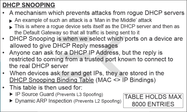 DHCP Snooping Flashcard