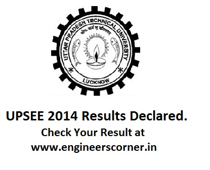 UPSEE 2014-UPTU Results Declared at www.upresults.nic.in