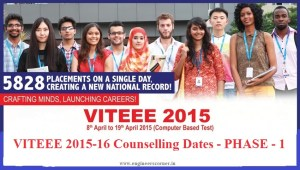 VITEEE 2015-16 Counselling Dates - PHASE - 1
