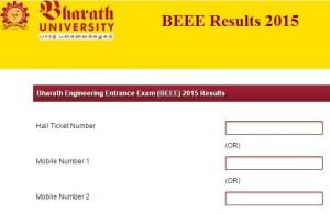 Bharath University BEEE 2015 Result