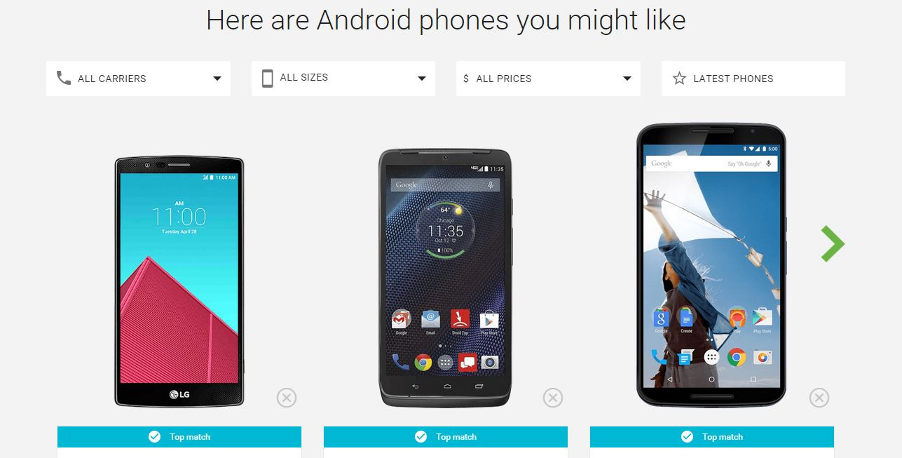 Pick my Android