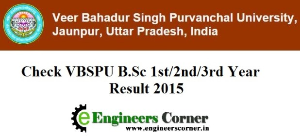 VBSPU B.Sc 1st 2nd 3rd year result 2015