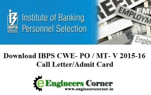 IBPS Admit card 2015
