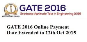 GATE 2016 Payment
