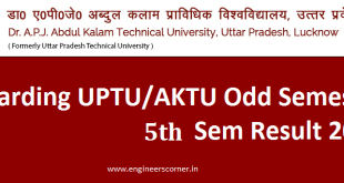 UPTU AKTU 5th sem Result 2016