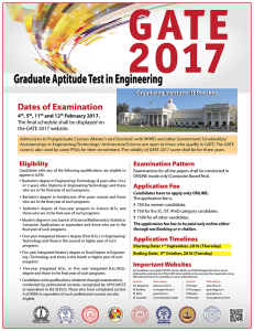 GATE 2017 Official Notification,Poster
