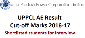 UPPCL AE Result and Cut-off Marks 2016