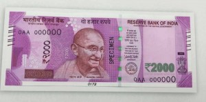 Picture of new Rs 2000 note - Front side