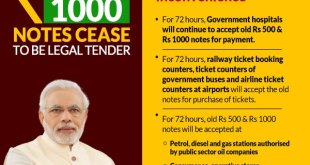 Rs 500 and Rs 1000 notes will no longer be legal tender