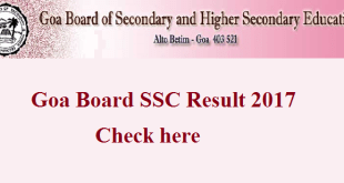 Goa SSC Result 2017