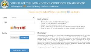 ICSE & ISC Result 2017